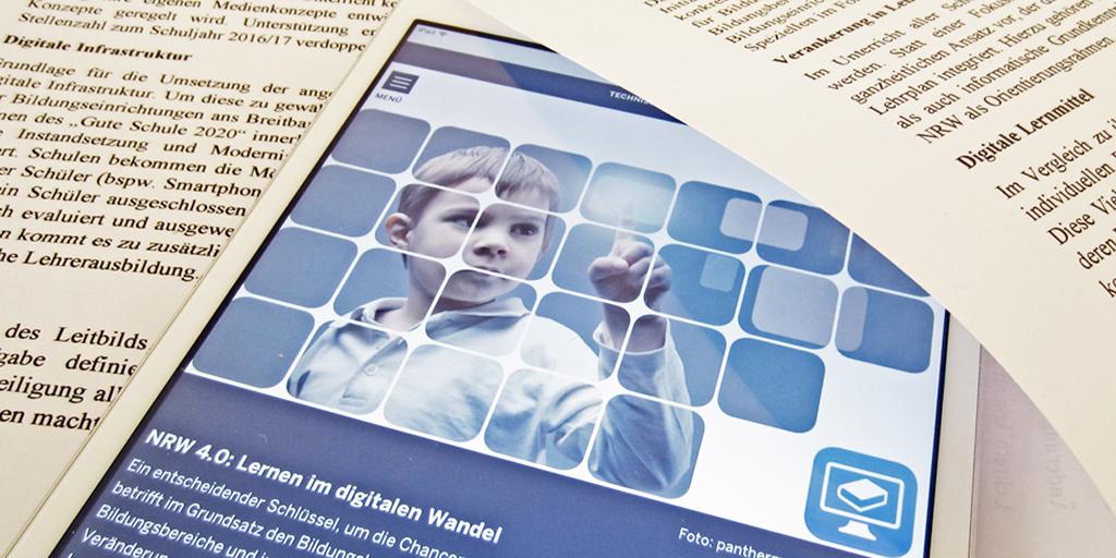 """Landesregierung Nordrhein-Westfalen stellt Leitbild """"Lernen im Digitalen Wandel"""" vor"""