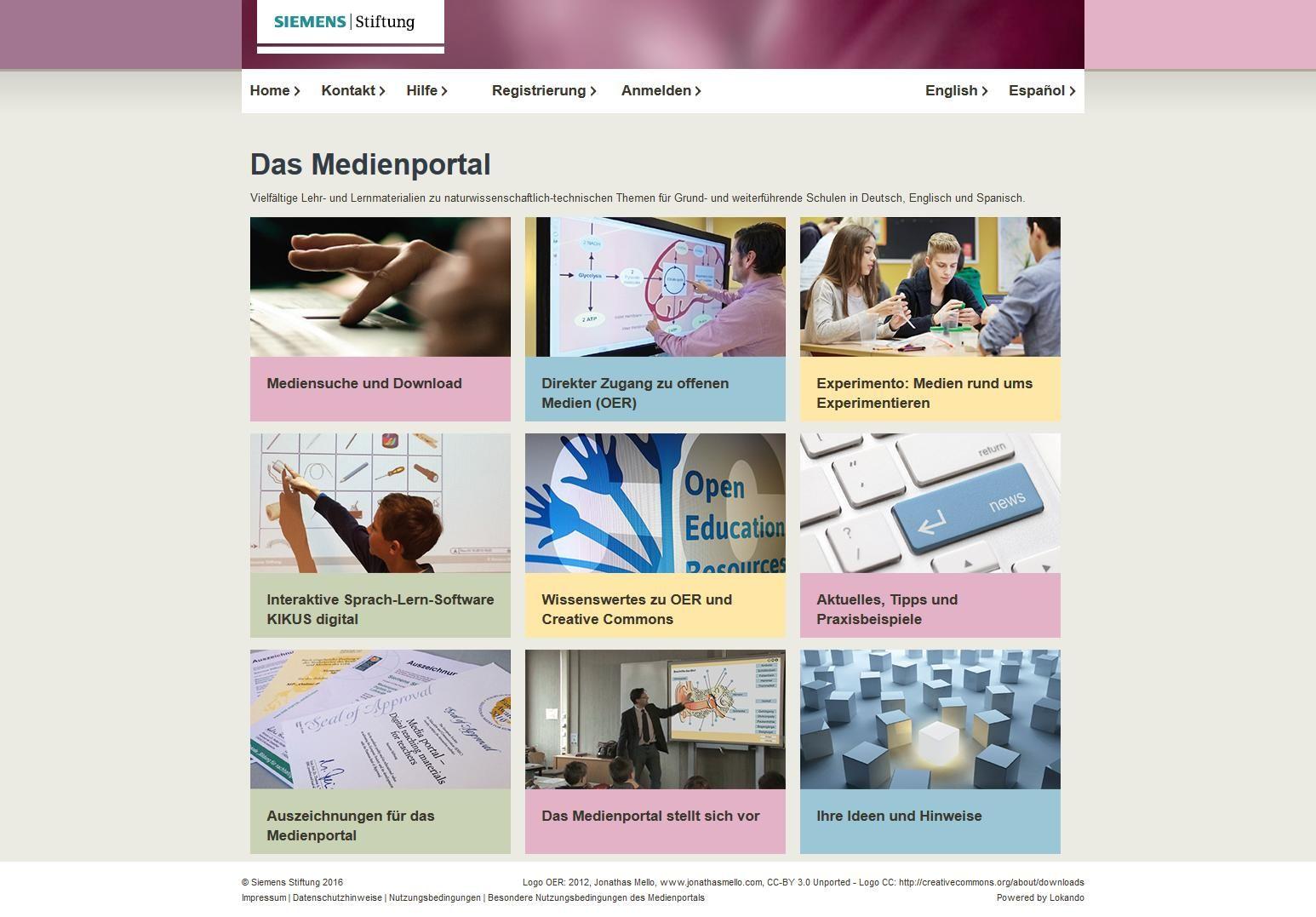 Medienportal der Siemens Stiftung: OER für den MINT-Unterricht
