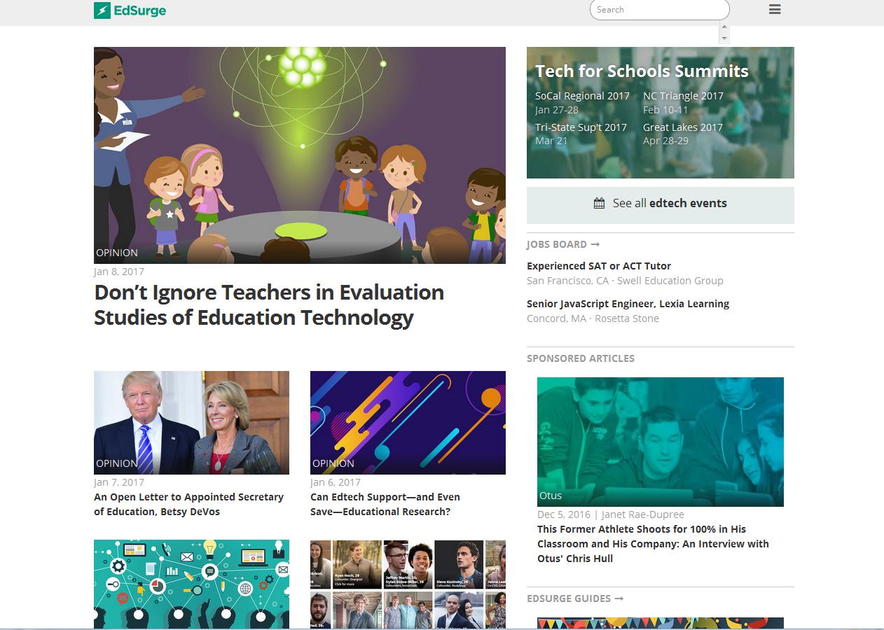 edsurge.com: Teacher, Techies, Storyteller