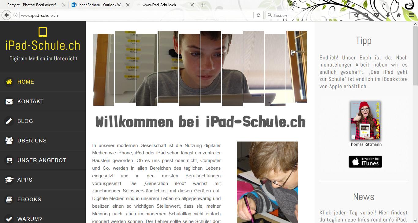 Übersichtsportal Bildungsapps: iPad-Schule.ch