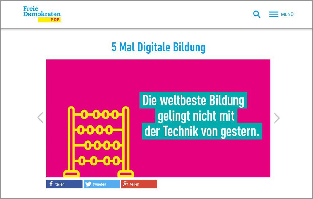 Bildung als Mondfahrprojekt – Positionen der FDP zur Digitalen Bildung