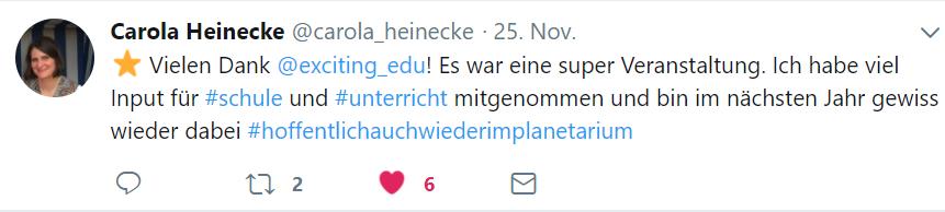 Lehrerkongress 2017 Tweet