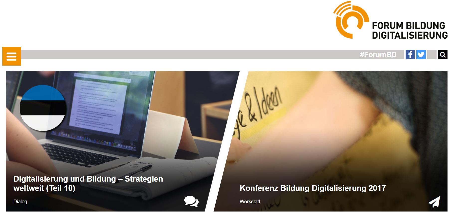 """Eine Plattform für alle maßgeblichen Akteure: Das """"Forum Bildung Digitalisierung"""""""