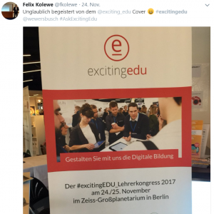 Kolewe Covermodel Lehrerkongress 2017 Tweet
