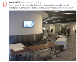 excitingEDU Tweet Ende Lehrerkongress 2017
