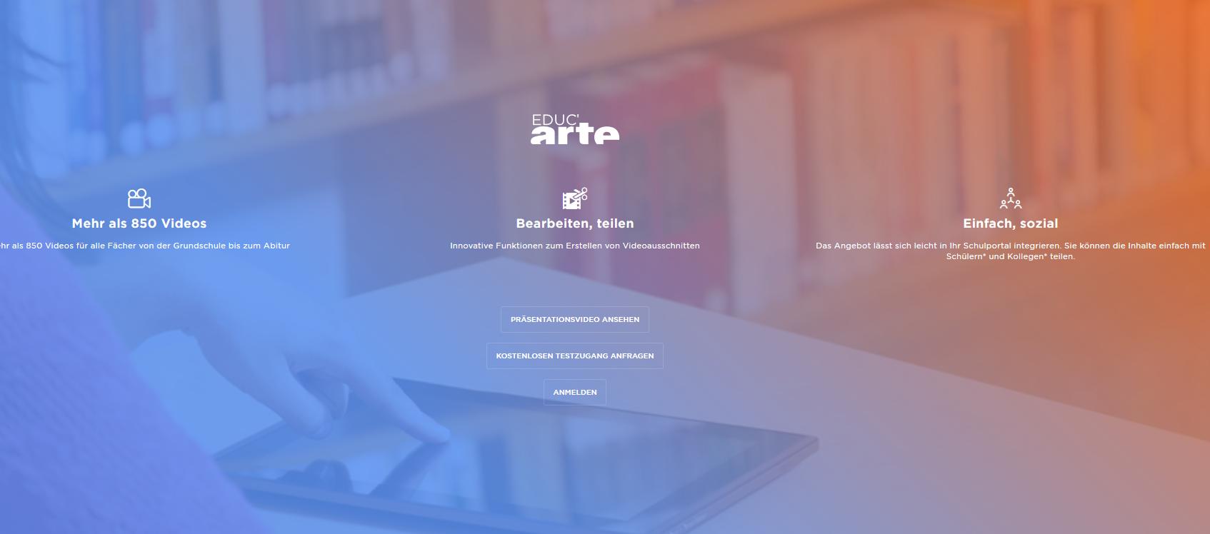 Streamen, Schneiden, Integrieren: Artes neue digitale Bildungsplattform