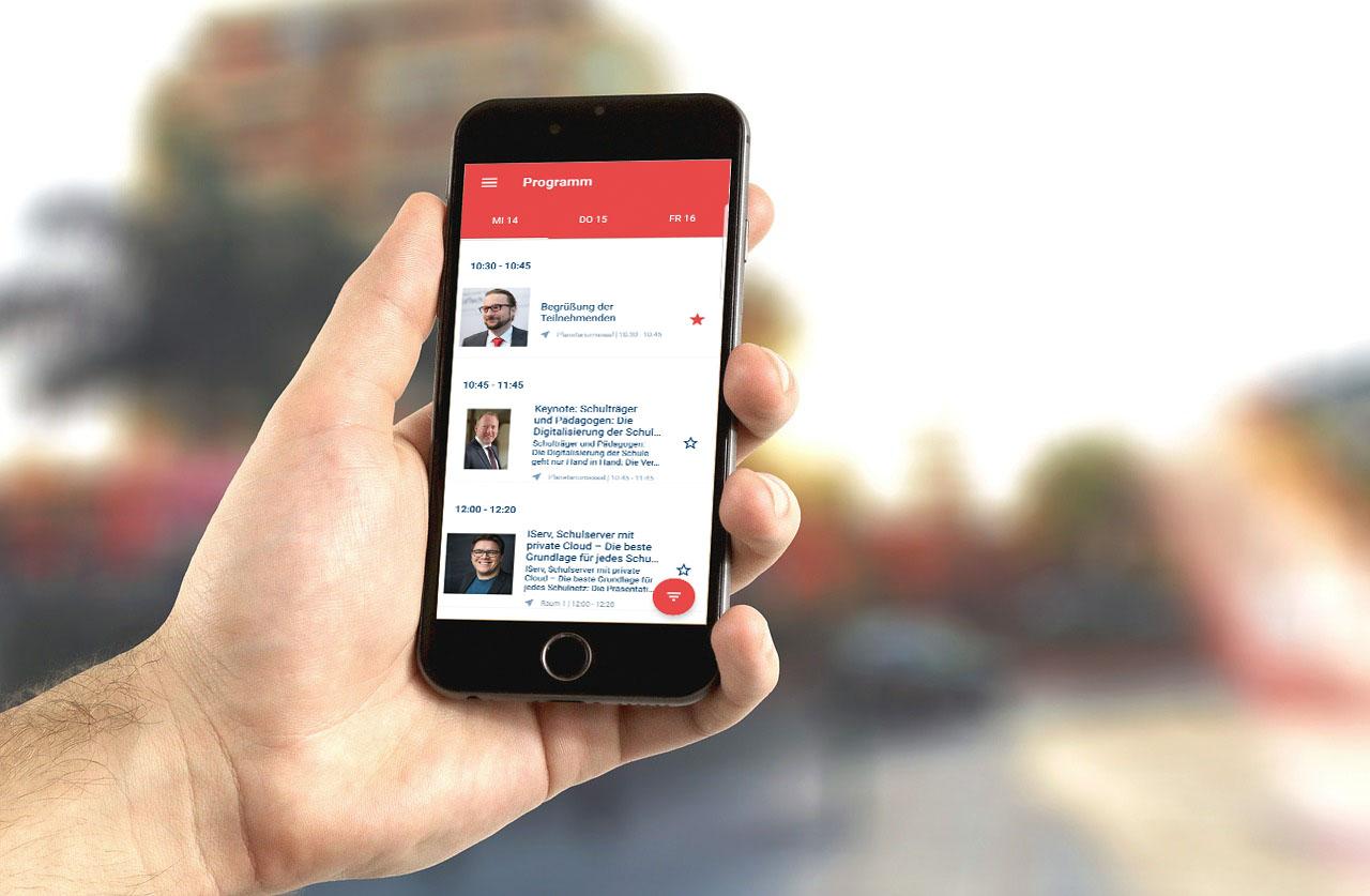 Mit der #excitingedu Kongress App euren Besuch organisieren