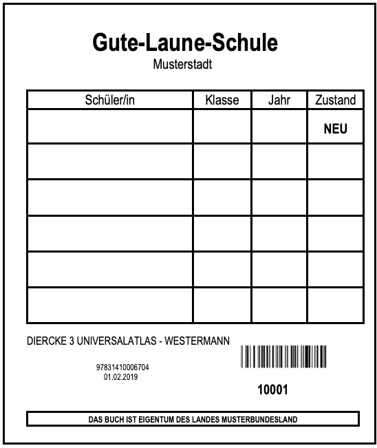 LDE-Etikett-Druck